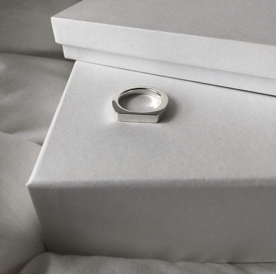 ID ring 06 silver