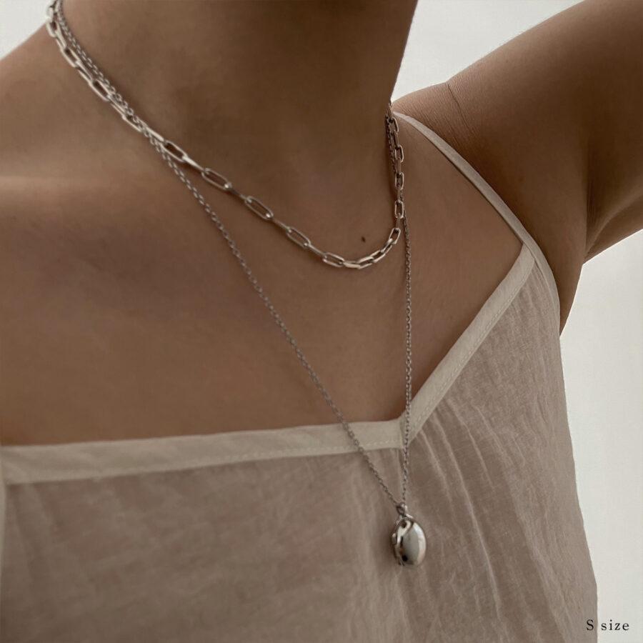 locket necklace 01 silver