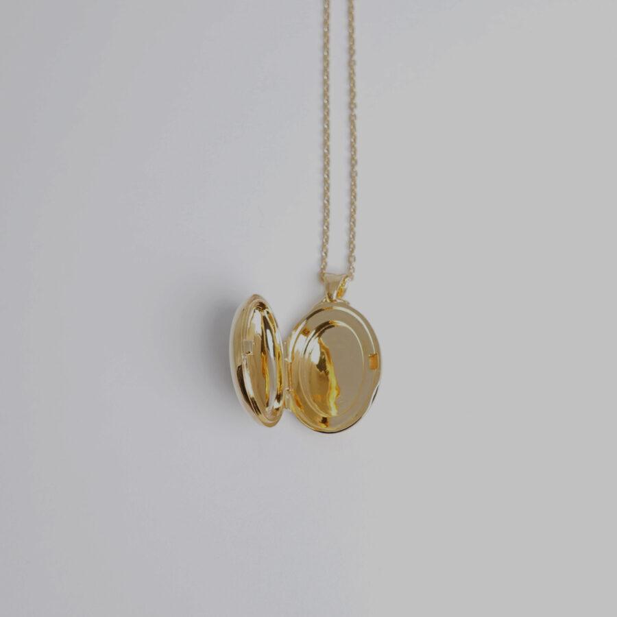 locket necklace 01 gold
