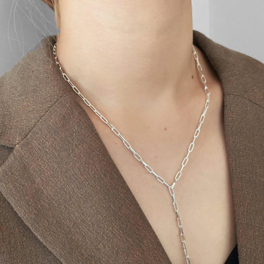 E chain necklace silver